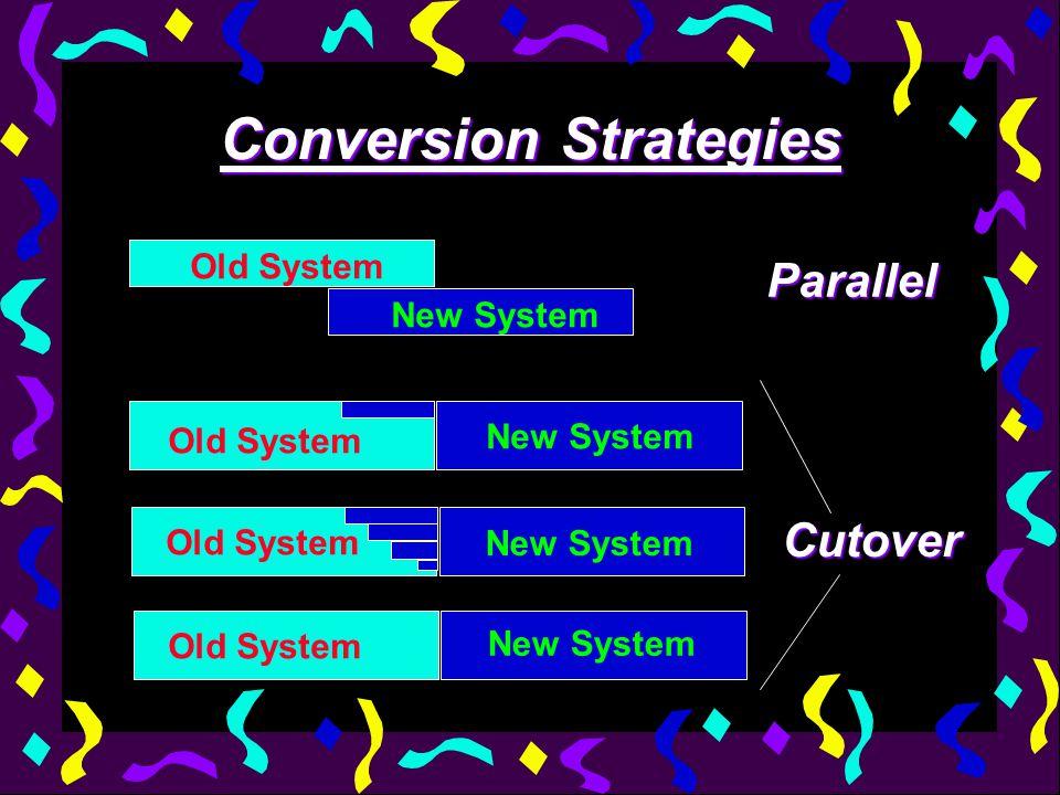 Conversion Strategy Advantages & Disadvantages Conversion Strategy: Cutover 1.