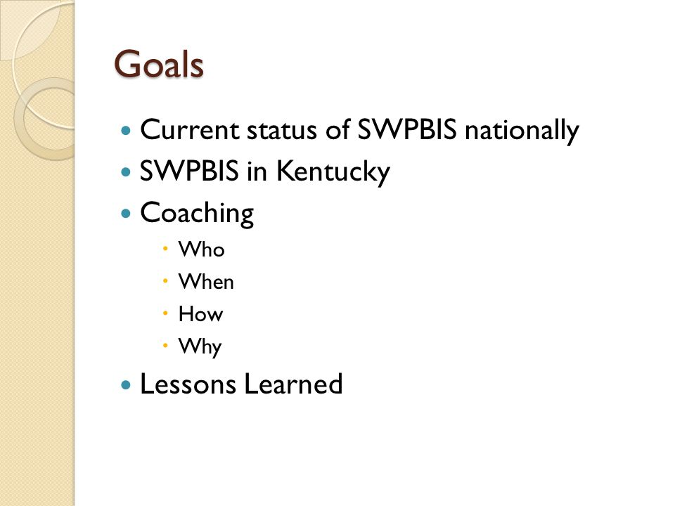 Proportion of School Implementing SWPBIS by State August, 2011 Kentucky