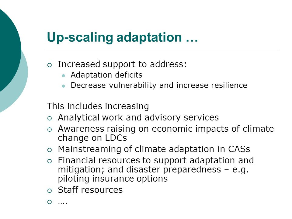 Capacity Building and Maintenance While aiming to increase climate risk assessment & screening tool …  Focus on identifying capacity needs and delivering support directly relevant to a project  Capacity maintenance in-country an essential component  Modular approach to training materials & tools to maximize sharing; as well as strengthening institutions and policy frameworks