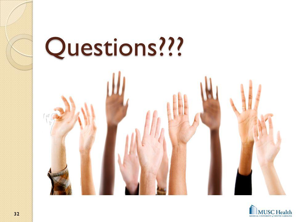 Questions??? 32
