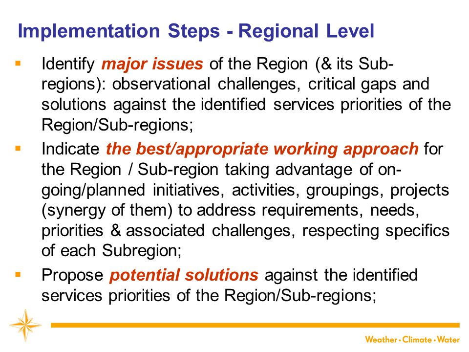 In conclusion…  WIGOS:  will not fix all problems of current national/regional observing systems/networks;  will lay down the framework – to allow Members to start addressing the current problems in a:  systematic,  coordinated,  sustainable,  efficient & effective way.