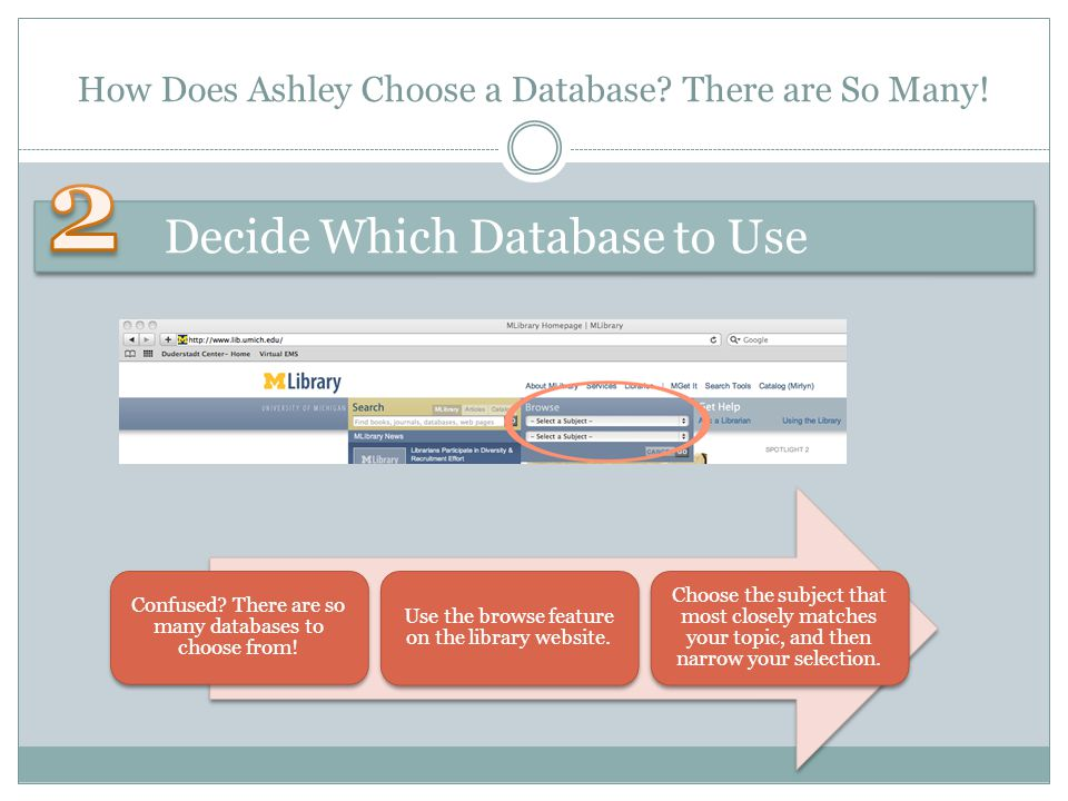 How Does Ashley Choose a Database. There are So Many.