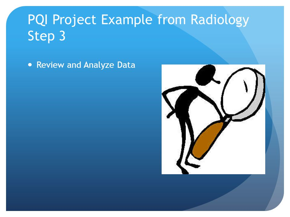 PQI Project Example from Radiology Step 3 Review and Analyze Data