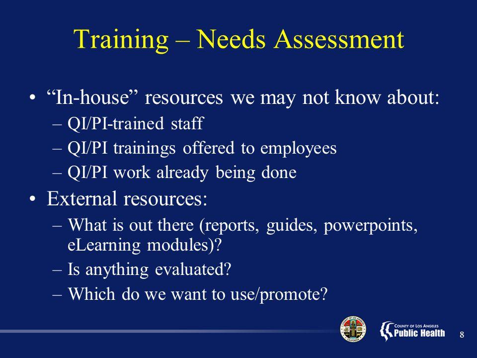 PI Measurement can Enhance Organizational Effectiveness Each DPH Program tracks population indicators and performance measures.