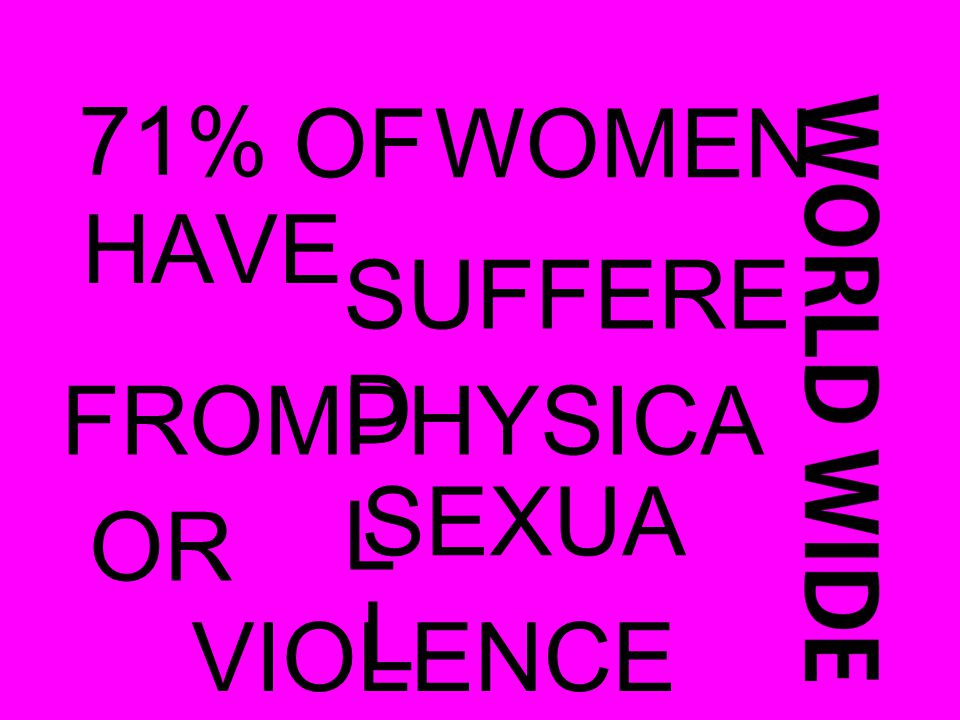 71% OFWOMEN HAVE SUFFERE D FROMPHYSICA L OR SEXUA L