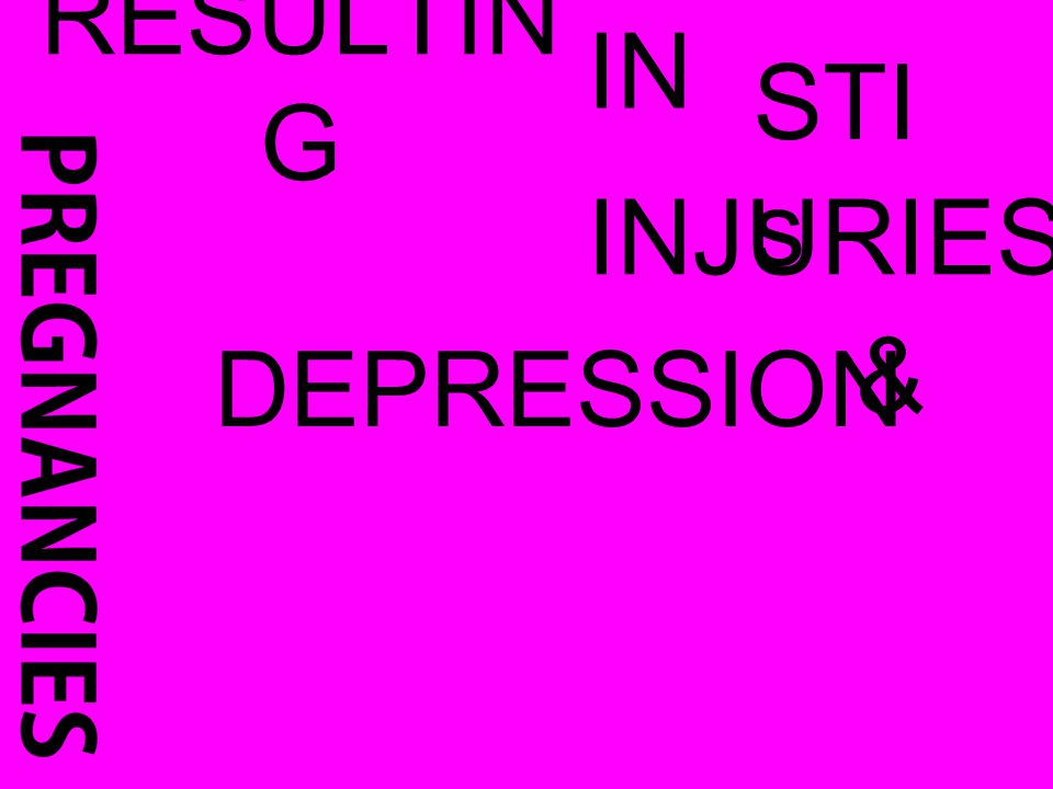RESULTIN G IN STI s INJURIES DEPRESSION