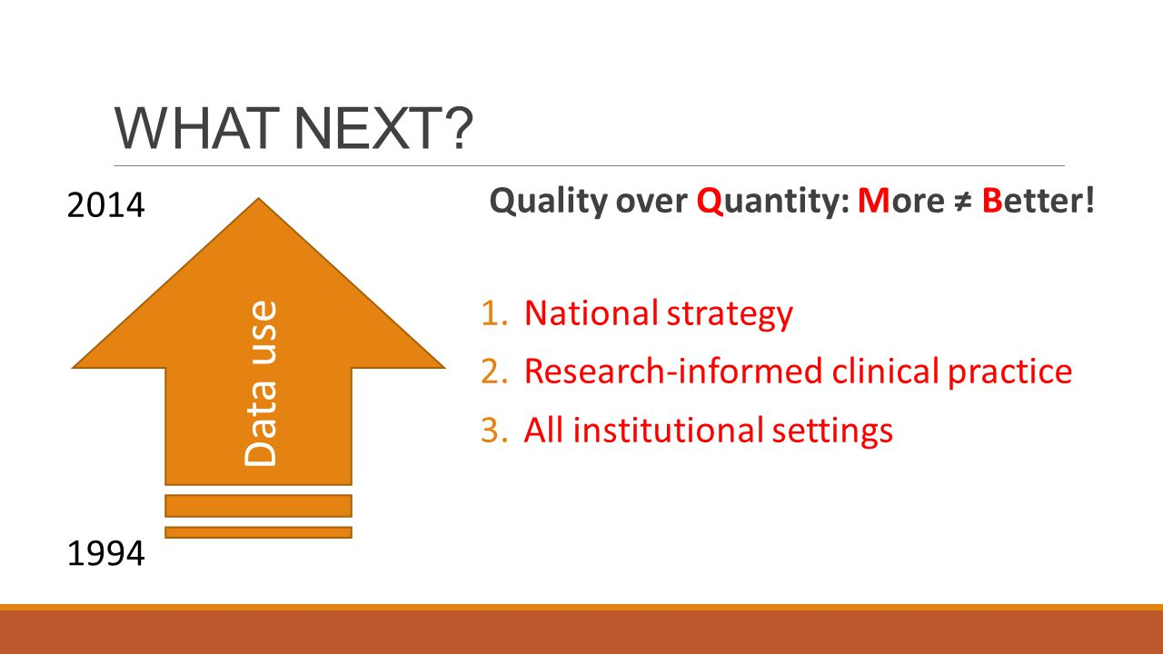 WHAT NEXT. Quality over Quantity: More ≠ Better.
