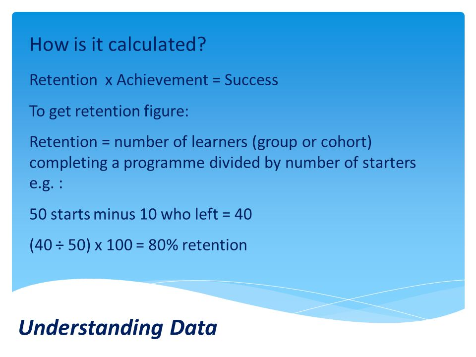 Understanding Data How is it calculated.