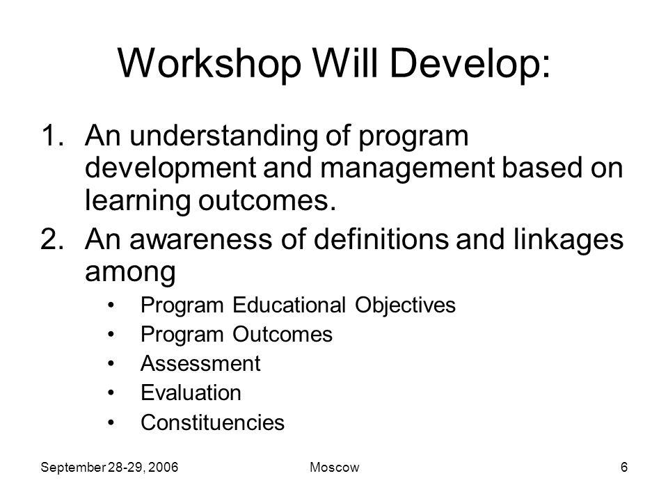 September 28-29, 2006Moscow36 Assessment Basics