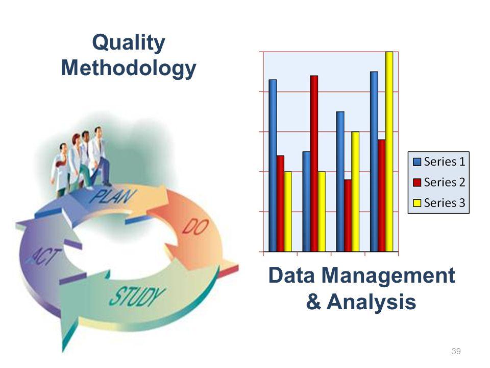 Quality Methodology Data Management & Analysis 39