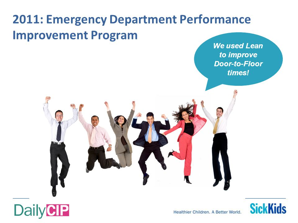 Daily CIP's Goal: Develop people to solve problems and improve performance
