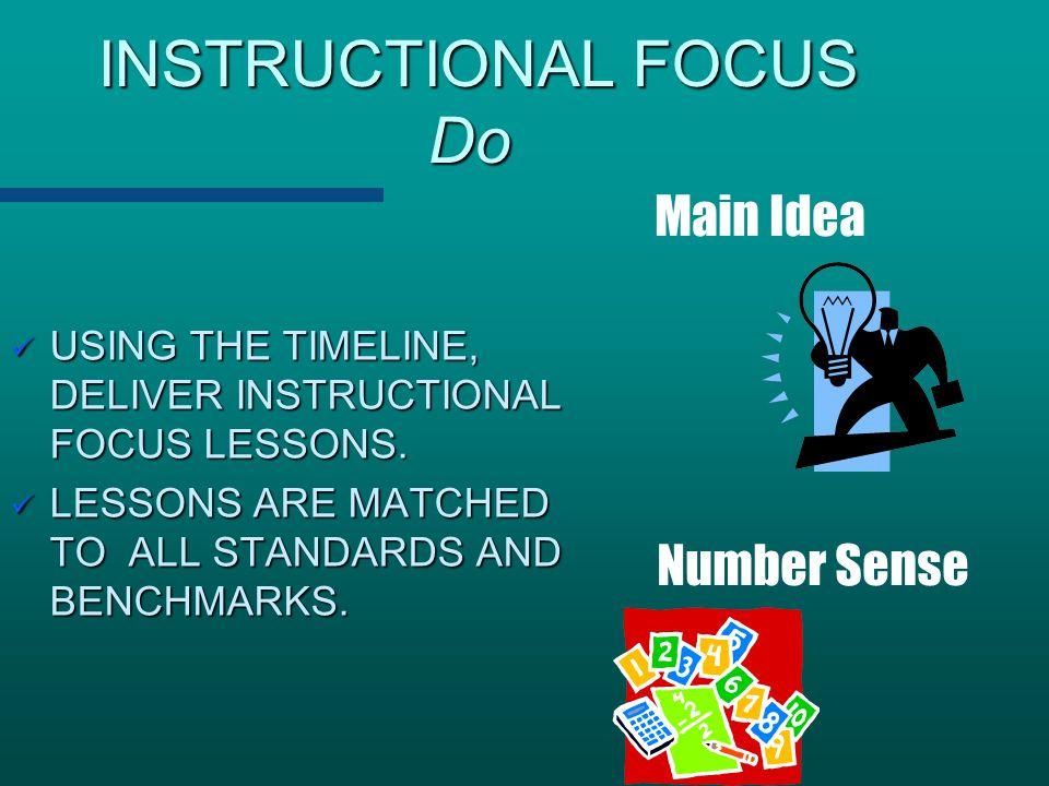 INSTRUCTIONAL FOCUS Do INSTRUCTIONAL FOCUS Do USING THE TIMELINE, DELIVER INSTRUCTIONAL FOCUS LESSONS. USING THE TIMELINE, DELIVER INSTRUCTIONAL FOCUS