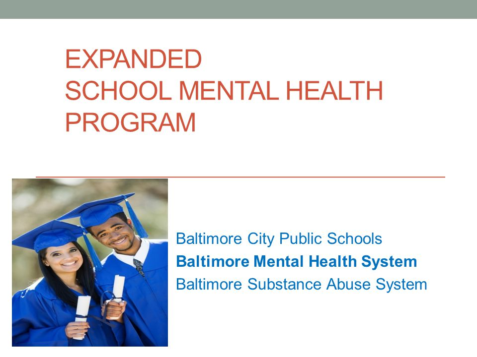 PROGRAM OVERVIEW Baltimore City Public Schools has partnered with external agencies to supplement clinical services to students in general education since 1991 Financial support for these services has remained level ($1.4 million annually) while the number of providers and schools covered has increased Currently there are 4 lead agencies providing service in a total of 105 schools.