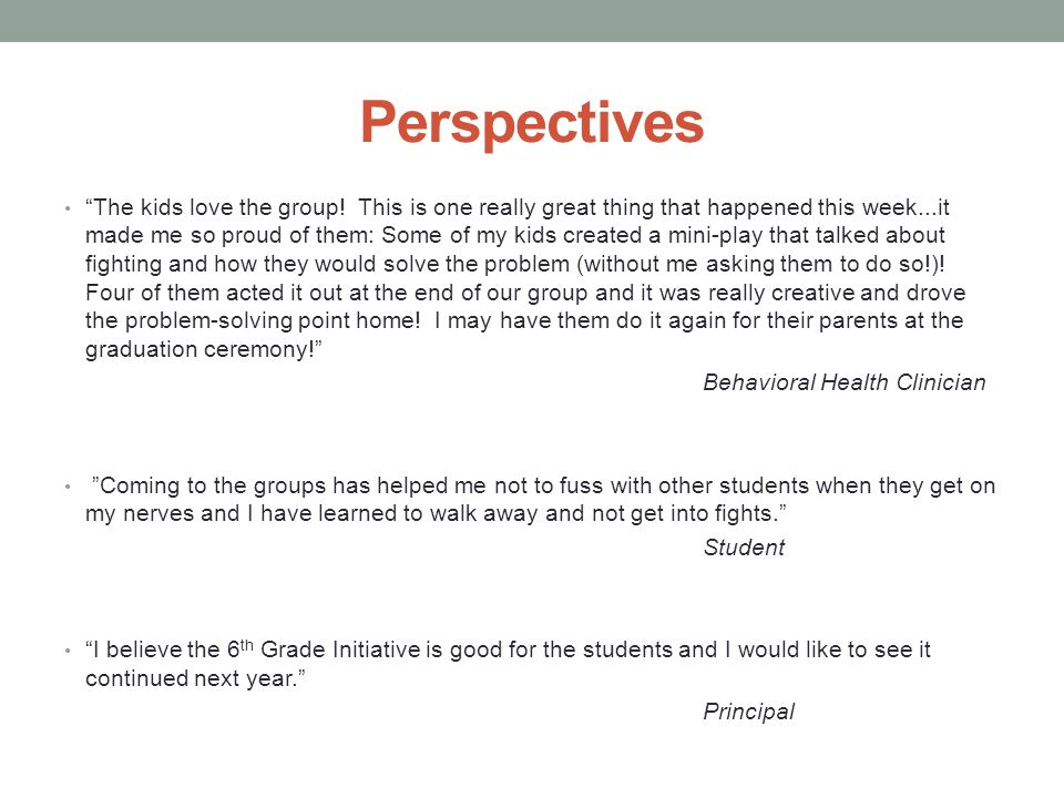 """Perspectives """"The kids love the group! This is one really great thing that happened this week...it made me so proud of them: Some of my kids created a"""