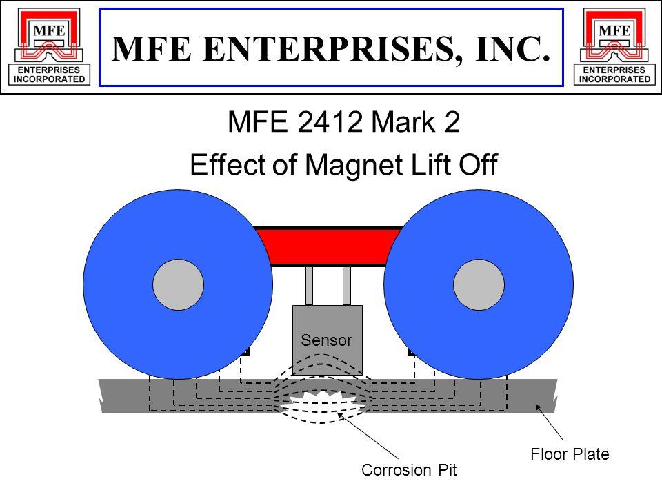 Floor Plate Corrosion Pit Sensor MFE ENTERPRISES, INC. MFE 2412 Mark 2 Effect of Magnet Lift Off