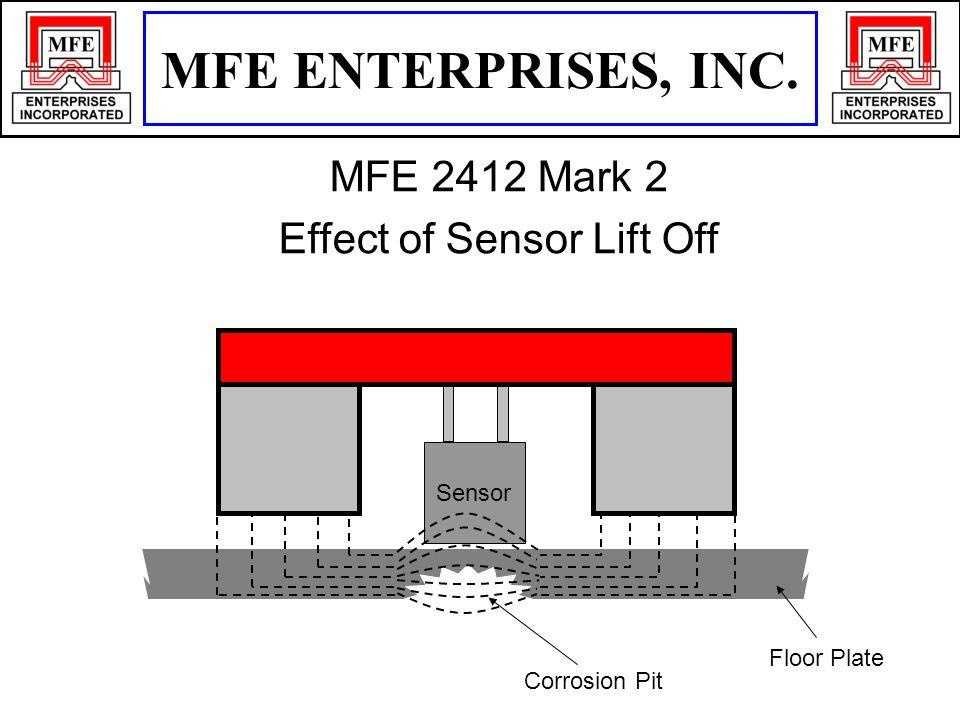 Floor Plate Corrosion Pit Sensor MFE ENTERPRISES, INC. MFE 2412 Mark 2 Effect of Sensor Lift Off