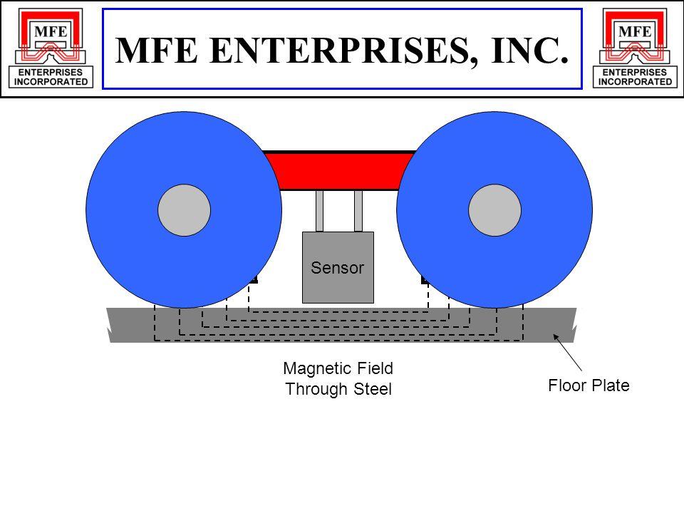 Floor Plate N S Sensor Magnetic Field Through Steel MFE ENTERPRISES, INC.