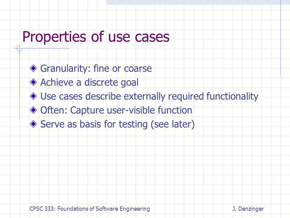 CPSC 333: Foundations of Software EngineeringJ.