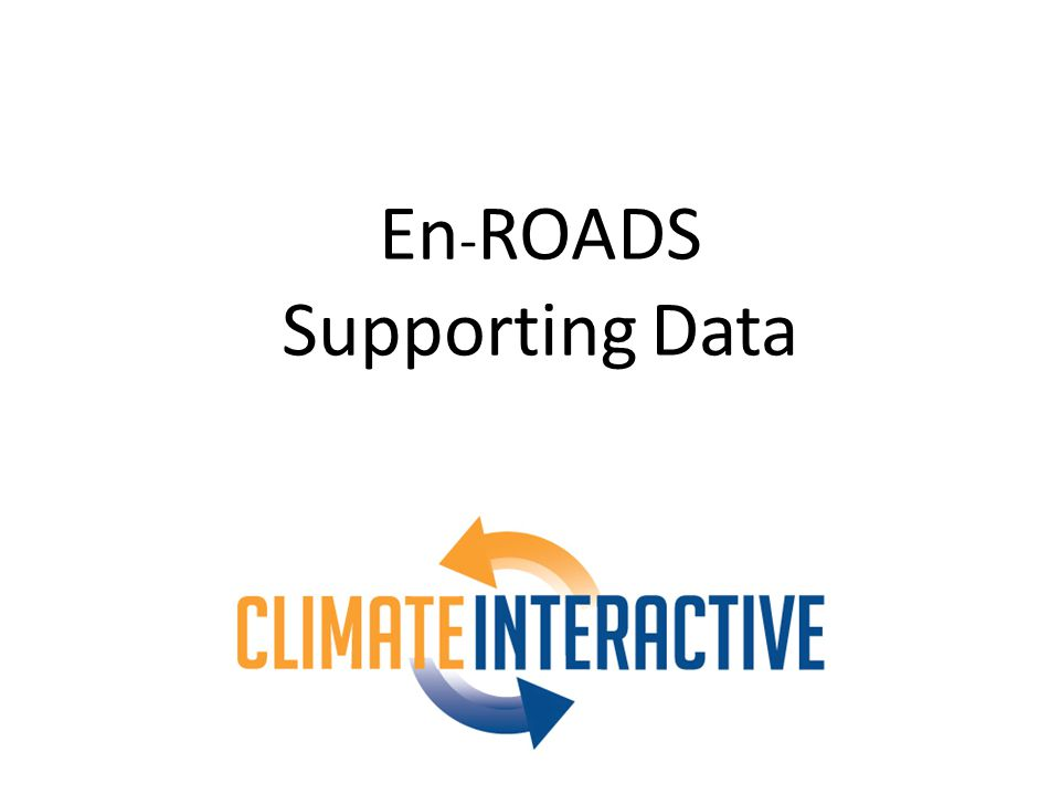 En - ROADS Supporting Data