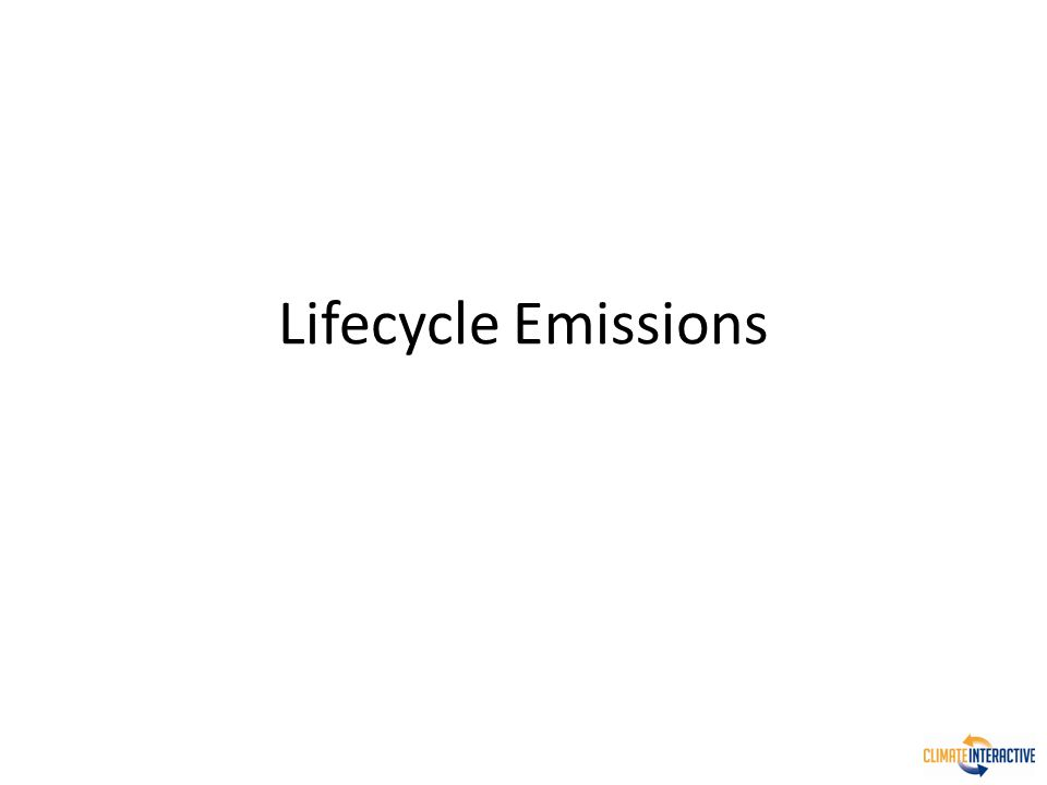 Lifecycle Emissions