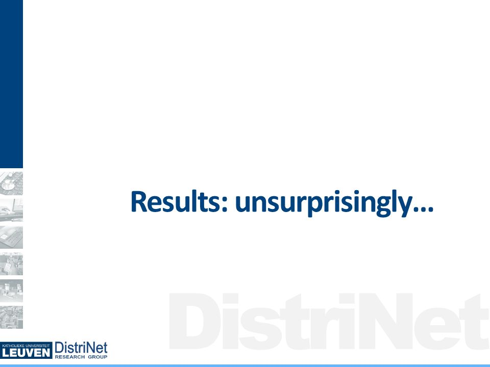 DistriNet Results: unsurprisingly…