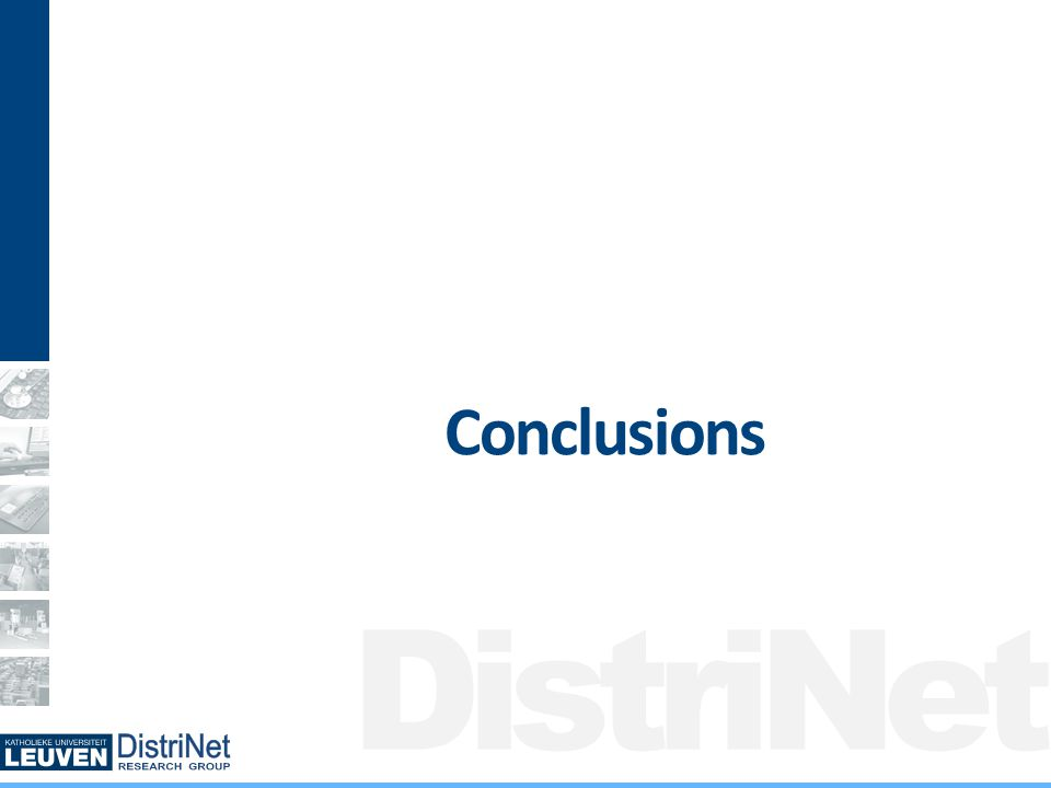 DistriNet Conclusions