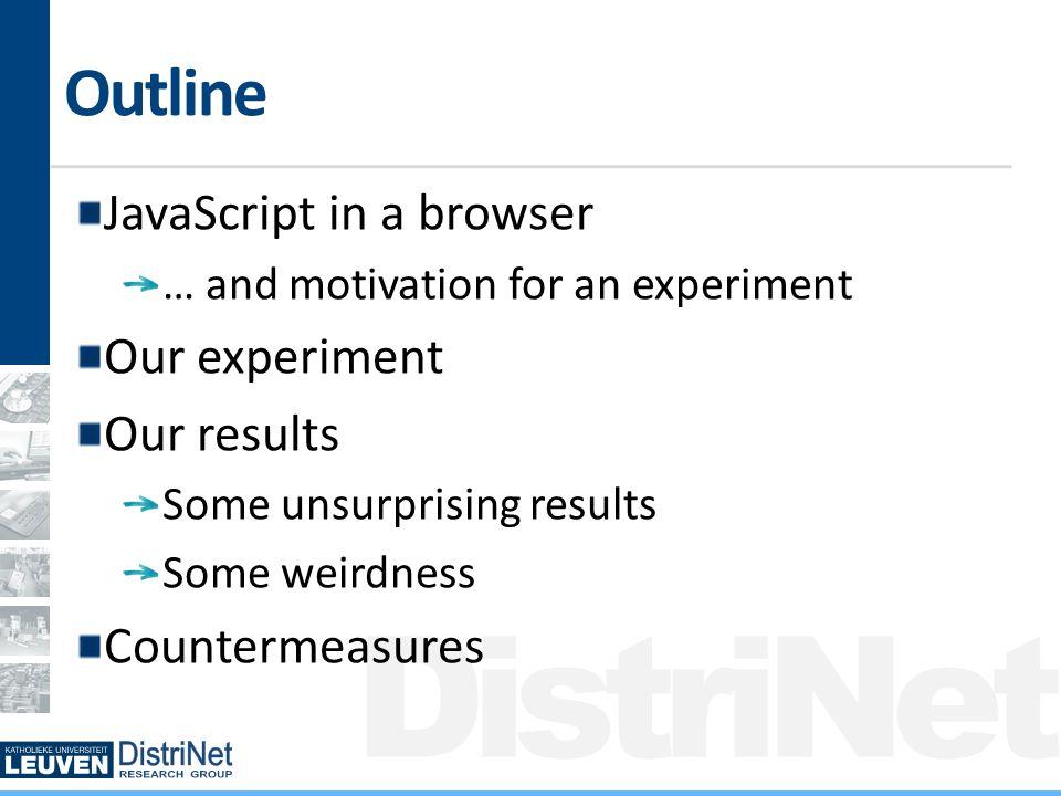 DistriNet Results: Popular JavaScript includes