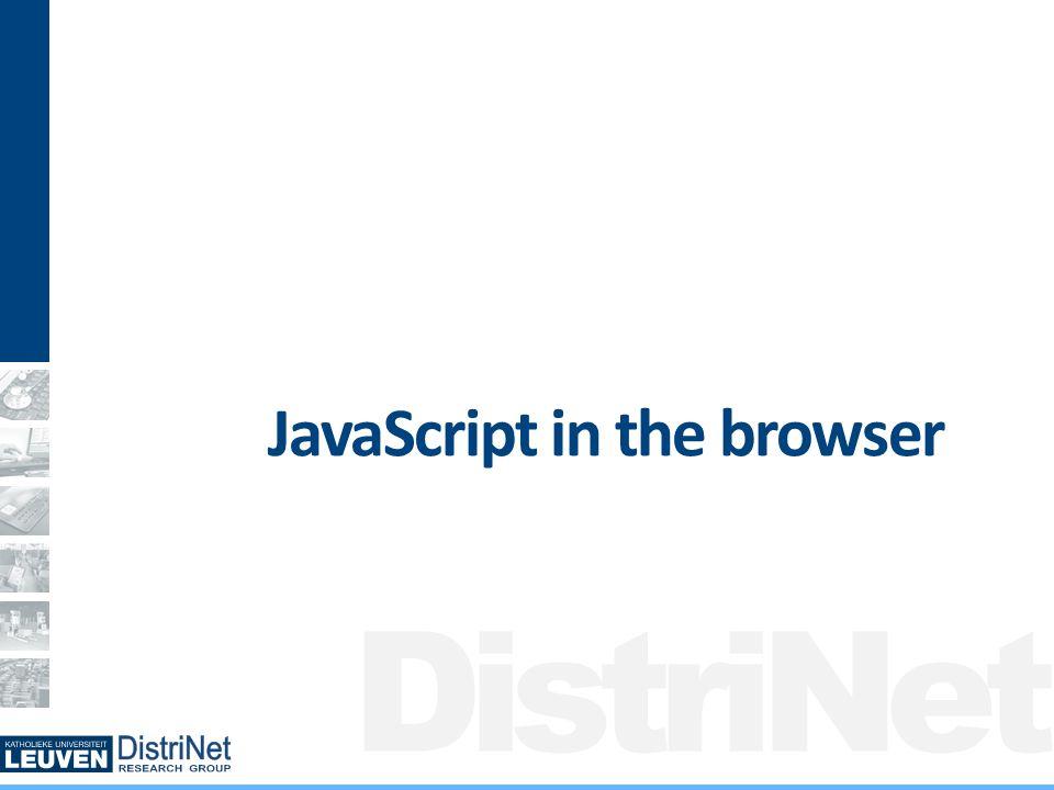 DistriNet JavaScript in a browser: origins Origin: http, facebook.com, 80Origin: http, google-maps.com, 80