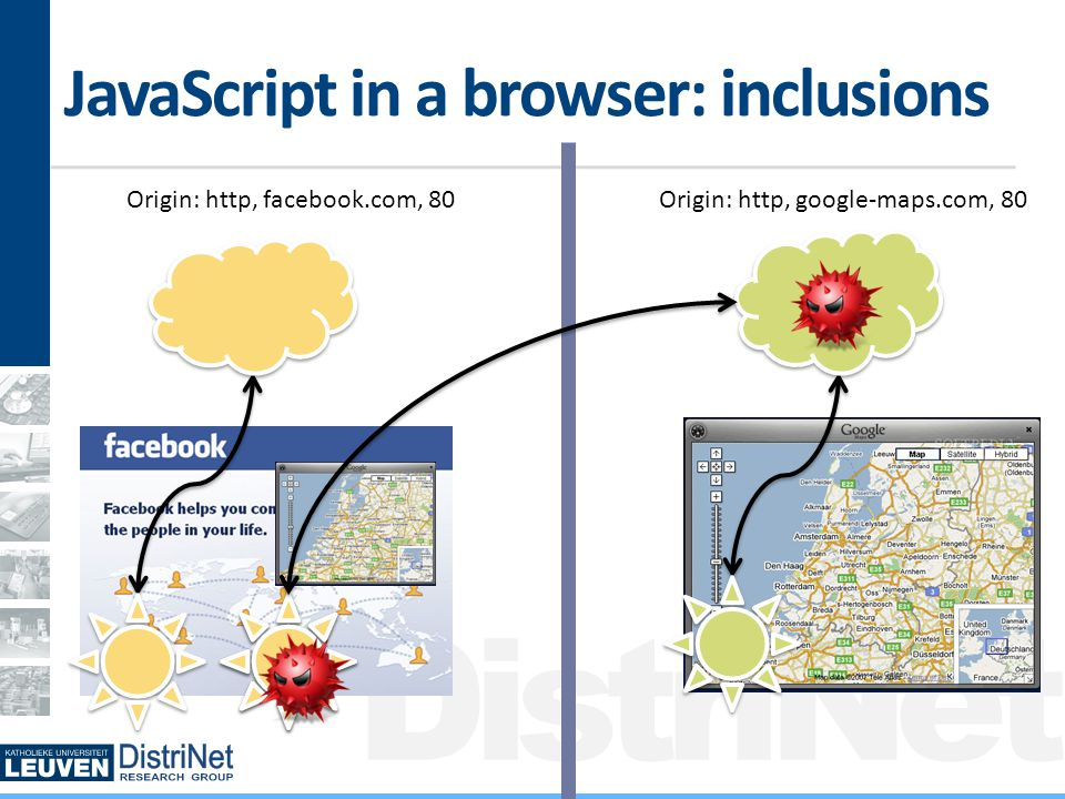 DistriNet Countermeasures Problems with remote inclusions Never the visitor's fault A developer can mess up Cross-user, cross-network and TXSS The remote host can mess up Low security, expiration of domain names How to protect one's self.