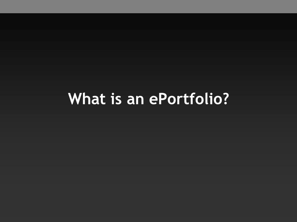 What is an ePortfolio