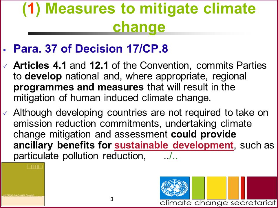 4 (1) Measures to mitigate climate change (Cont.)../..