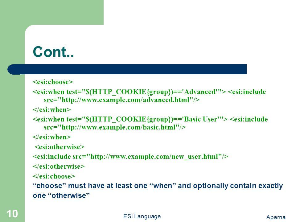 Aparna ESI Language 10 Cont..