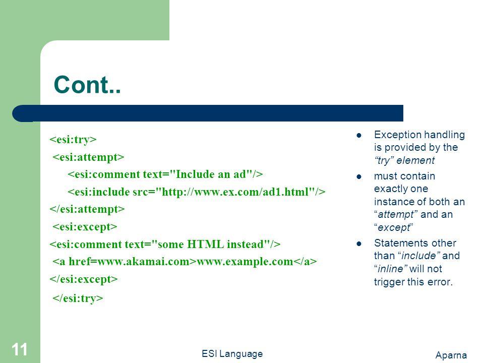 Aparna ESI Language 11 Cont..