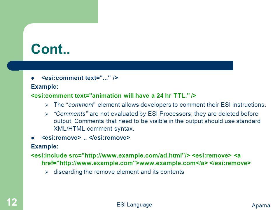 Aparna ESI Language 12 Cont..