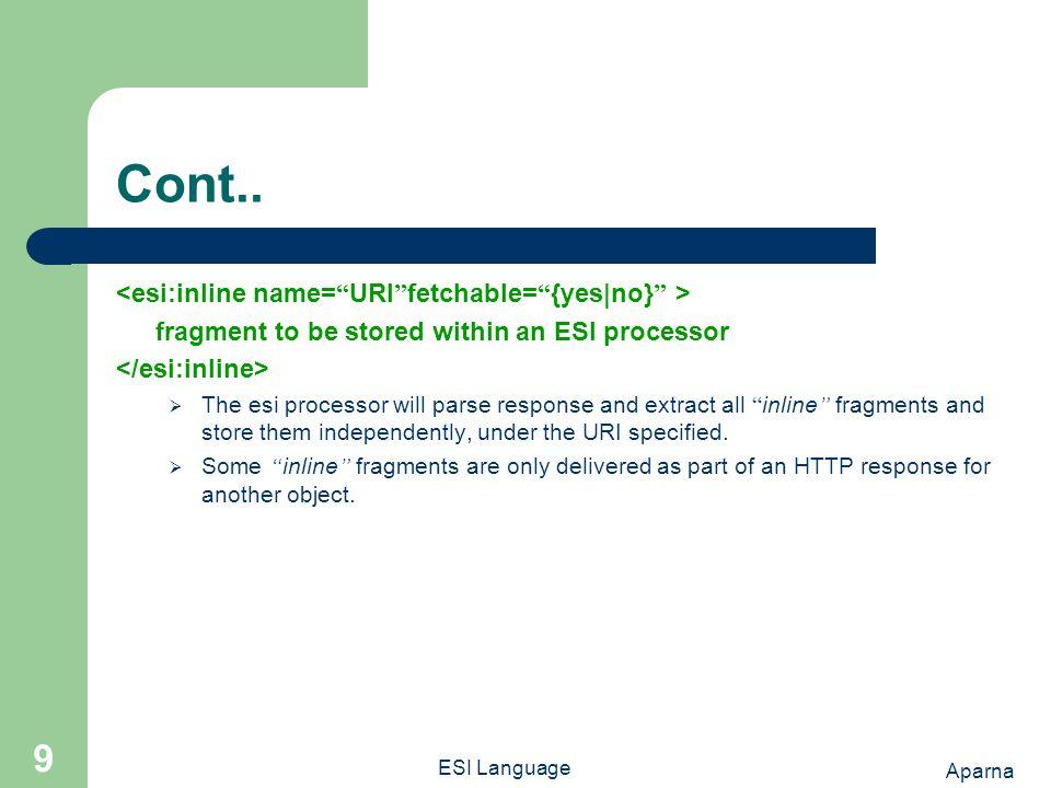 Aparna ESI Language 9 Cont..
