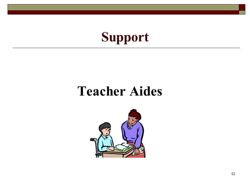 62 Support Teacher Aides