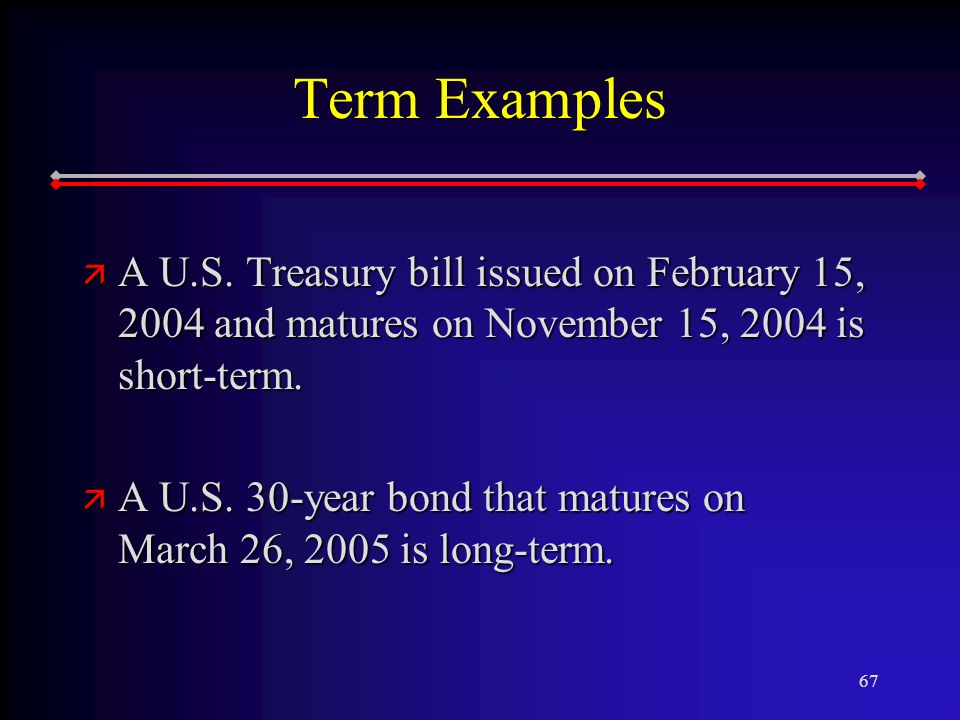 67 Term Examples ä A U.S.