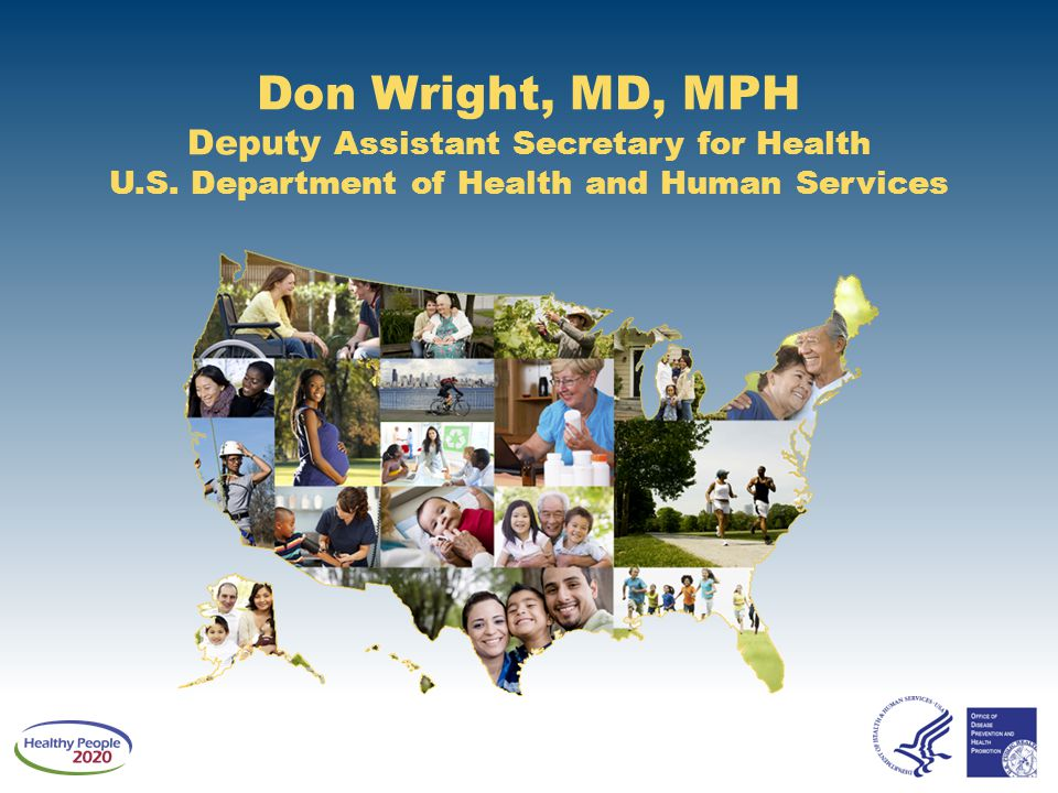 Overview and Presenters Chair ■ Don Wright, MD, MPH, Deputy Assistant Secretary for Health U.S.