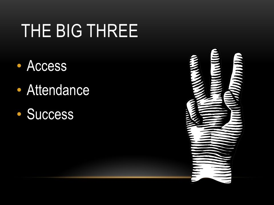THE BIG THREE Access Attendance Success