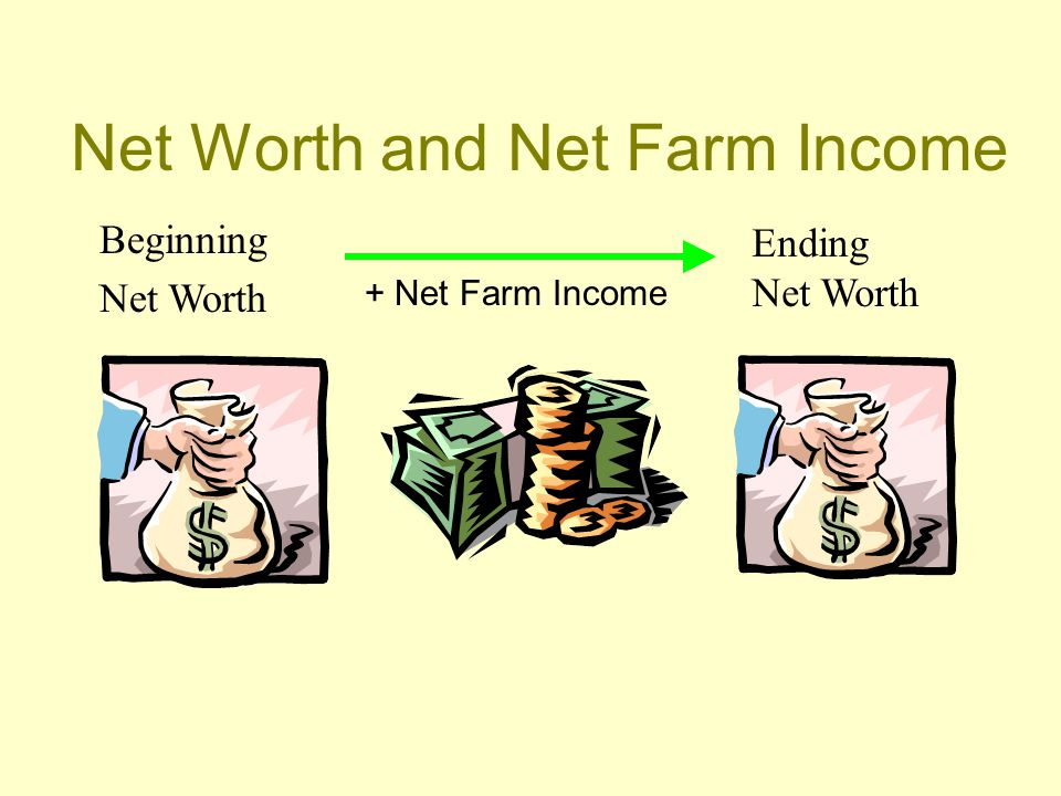 Net Worth and Net Farm Income Beginning Net Worth Ending Net Worth + Net Farm Income