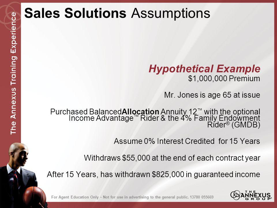 Hypothetical Example $1,000,000 Premium Mr.