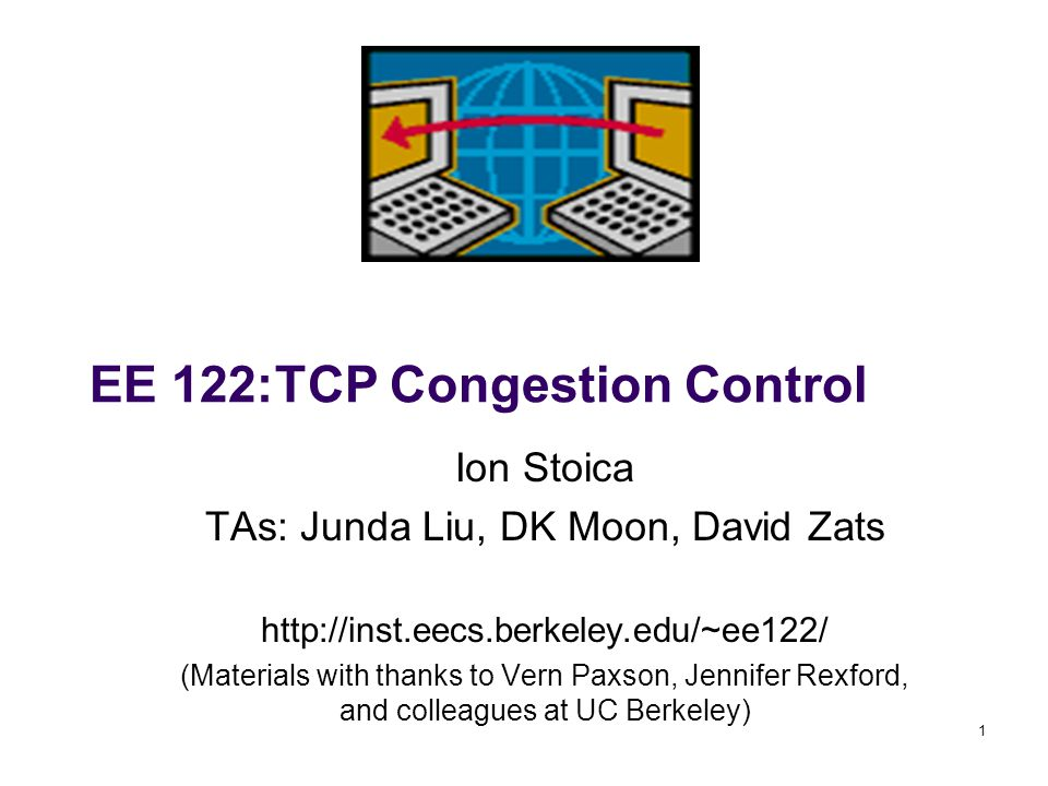 2 Goals of Today's Lecture Principles of congestion control Learning that congestion is occurring Adapting to alleviate the congestion TCP congestion control Additive-increase, multiplicative-decrease (AIMD) How to begin transmitting: Slow Start
