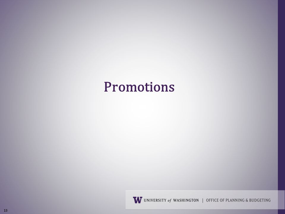 13 Promotions