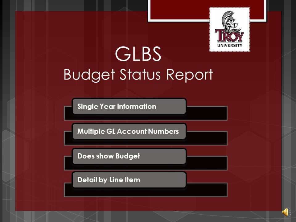 GLSA Summary Account Availability Detail Report