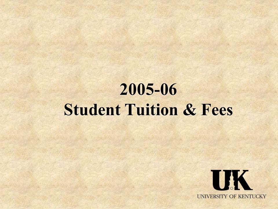 Student Tuition & Fees