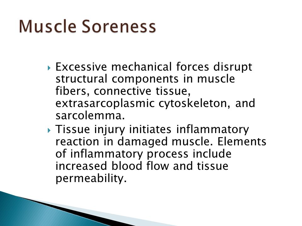  Excessive mechanical forces disrupt structural components in muscle fibers, connective tissue, extrasarcoplasmic cytoskeleton, and sarcolemma.