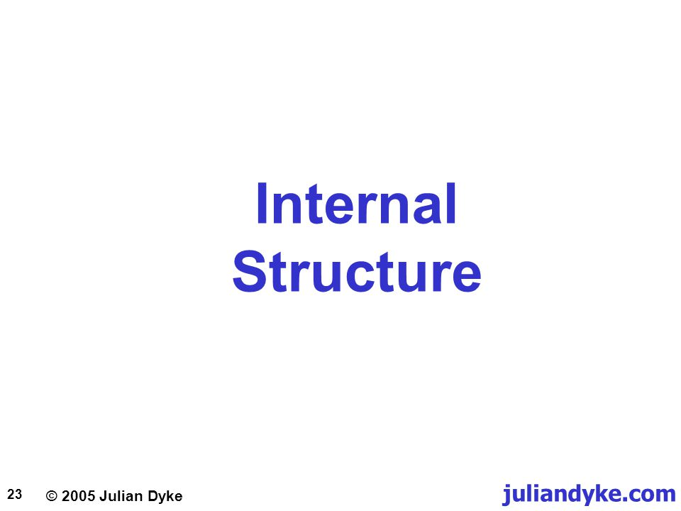 © 2005 Julian Dyke juliandyke.com 23 Internal Structure