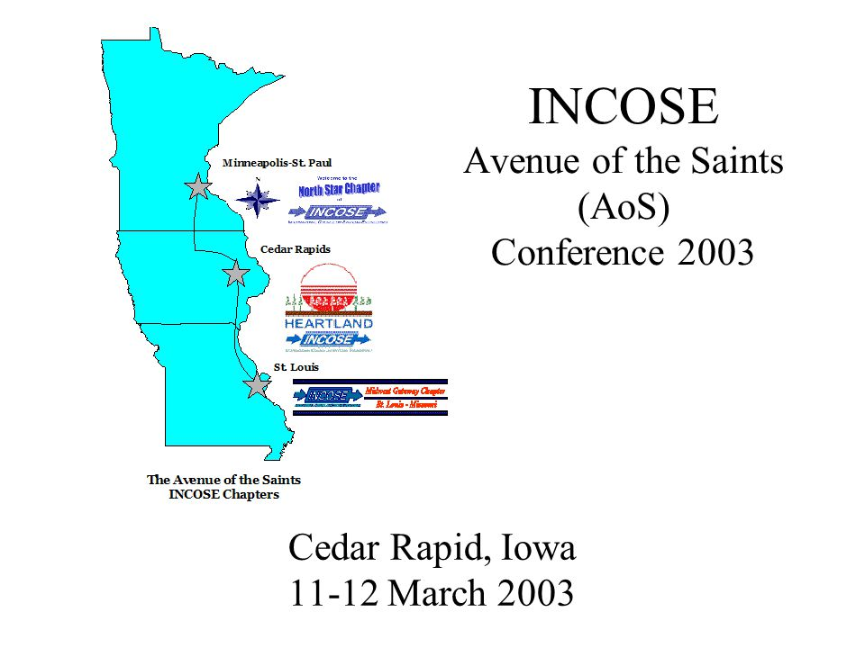 1 INCOSE Avenue of the Saints (AoS) Conference 2003 Cedar Rapid, Iowa 11-12 March 2003