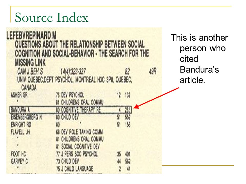 Source Index This is another person who cited Bandura's article.