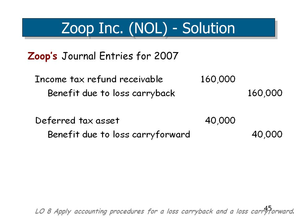 45 Zoop's Journal Entries for 2007 Zoop Inc.